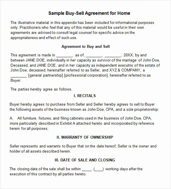 Buy Sell Agreements forms Lovely Free 20 Sample Buy Sell Agreement Templates In Word