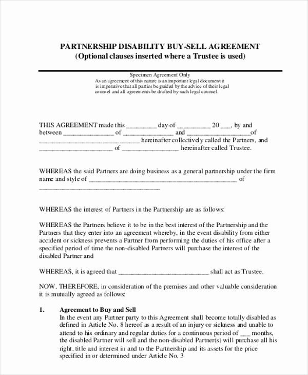 Buyout Agreement Template Free Beautiful 11 Partnership Agreement form Samples Free Sample Example format Download