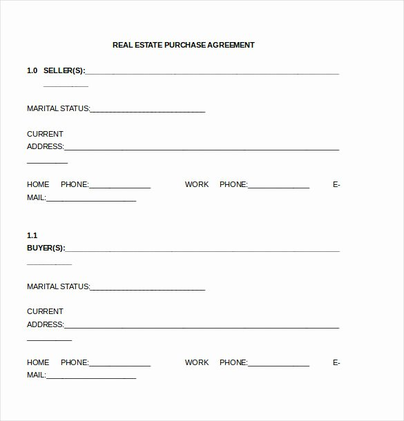 Buyout Agreement Template Free Inspirational Simple Land Purchase Agreement form