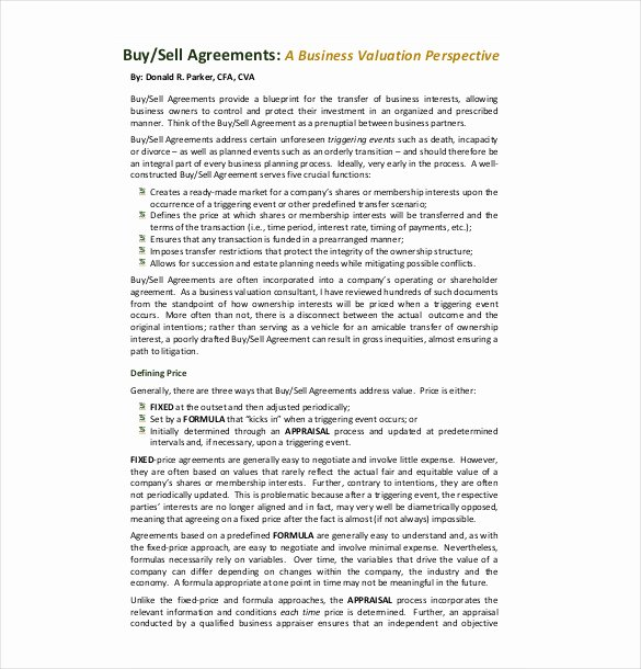Buyout Agreement Template Free Lovely 25 Buy Sell Agreement Templates Word Pdf