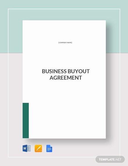 Buyout Agreement Template Free New Business Buyout Agreement Template Word Google Docs Apple Pages