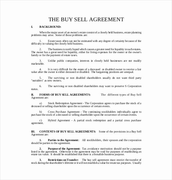 Buyout Agreement Template Free Unique 25 Buy Sell Agreement Templates Word Pdf