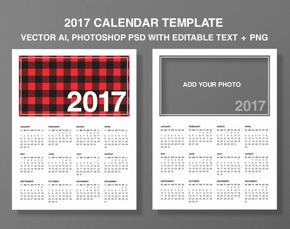 Calendar Template for Photoshop Awesome Calendar 2017 Templates Add Your Shop Psd Layered Editable Text Vector Ai Eps Png