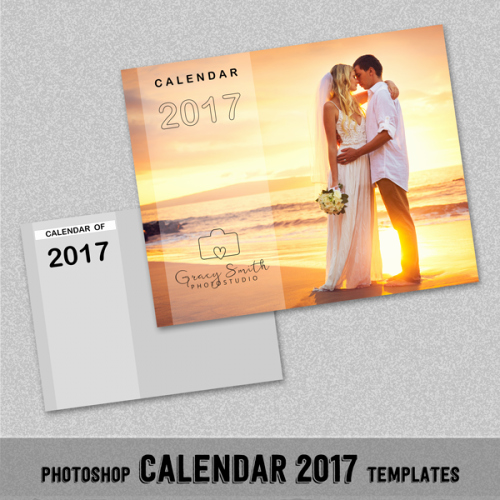 "Calendar Template for Photoshop New 2017 Monthly Calendar Shop Template 8x10"" Wall Calendar"