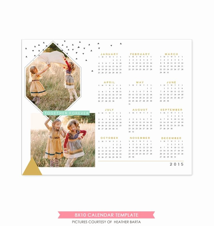 Calendar Template for Photoshop New 8x10 2015 Calendar Template to Her forever