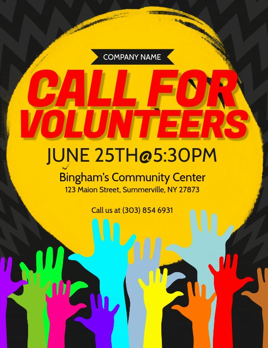 Call for Volunteers Template Beautiful Call for Volunteers Flyer Template