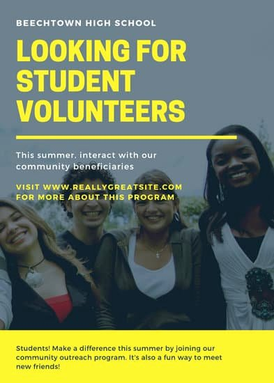Call for Volunteers Template Lovely Customize 40 Volunteer Flyer Templates Online Canva