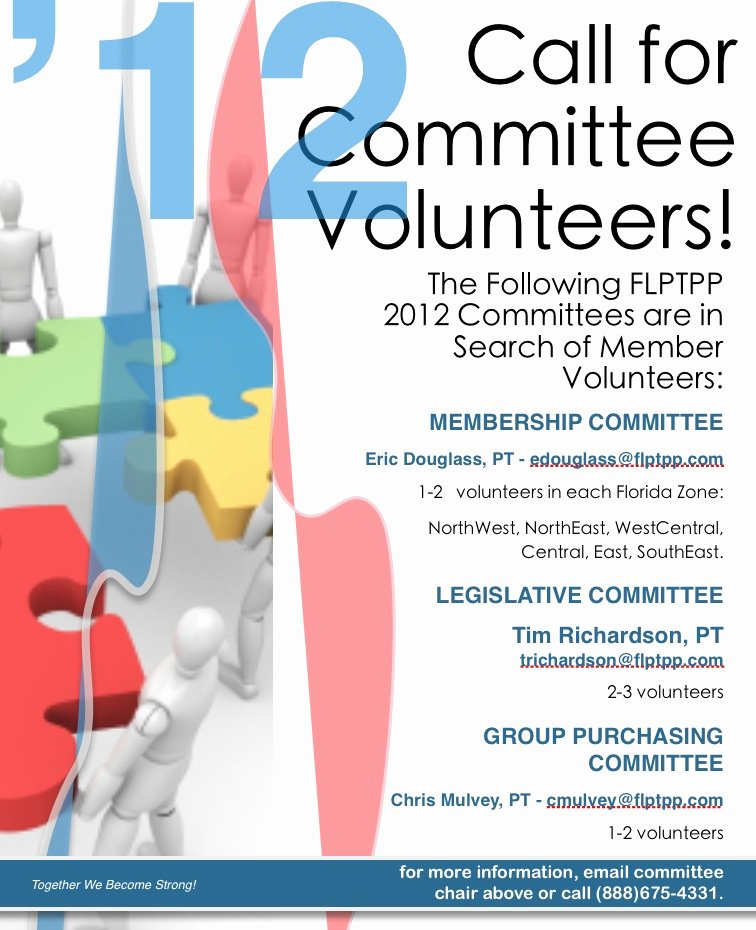 Call for Volunteers Template Lovely Physical therapy Diagnosis Volunteers Needed for Florida Physical therapists Mittee