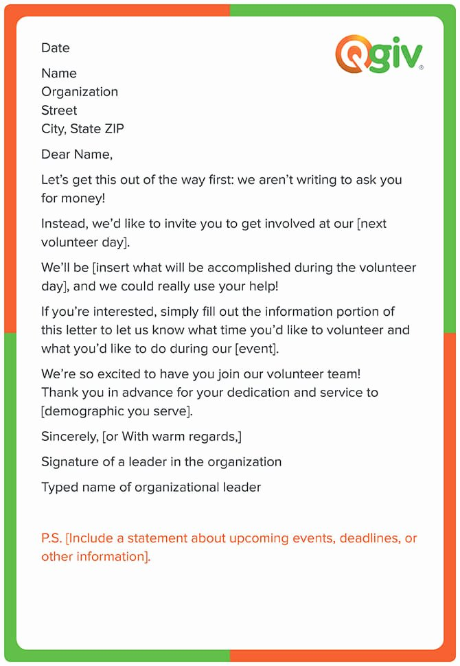 Call for Volunteers Template New 9 Awesome and Effective Fundraising Letter Templates