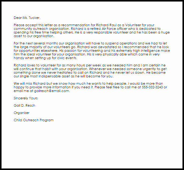 Call for Volunteers Template New Volunteer Re Mendation Letter Example