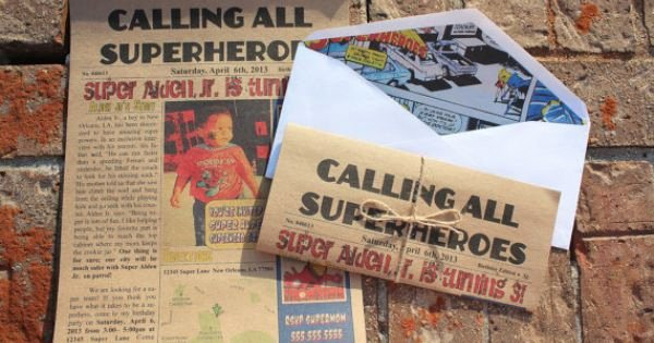 Calling All Superheroes Invitation Awesome Calling All Superheroes Newspaper Invitation
