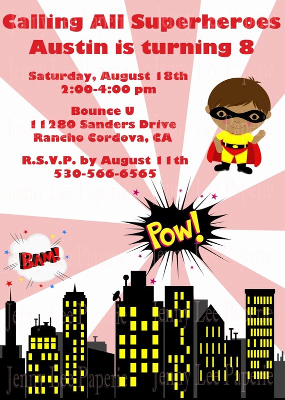 Calling All Superheroes Invitation Awesome Items Similar to Printable Superhero Birthday Invitation