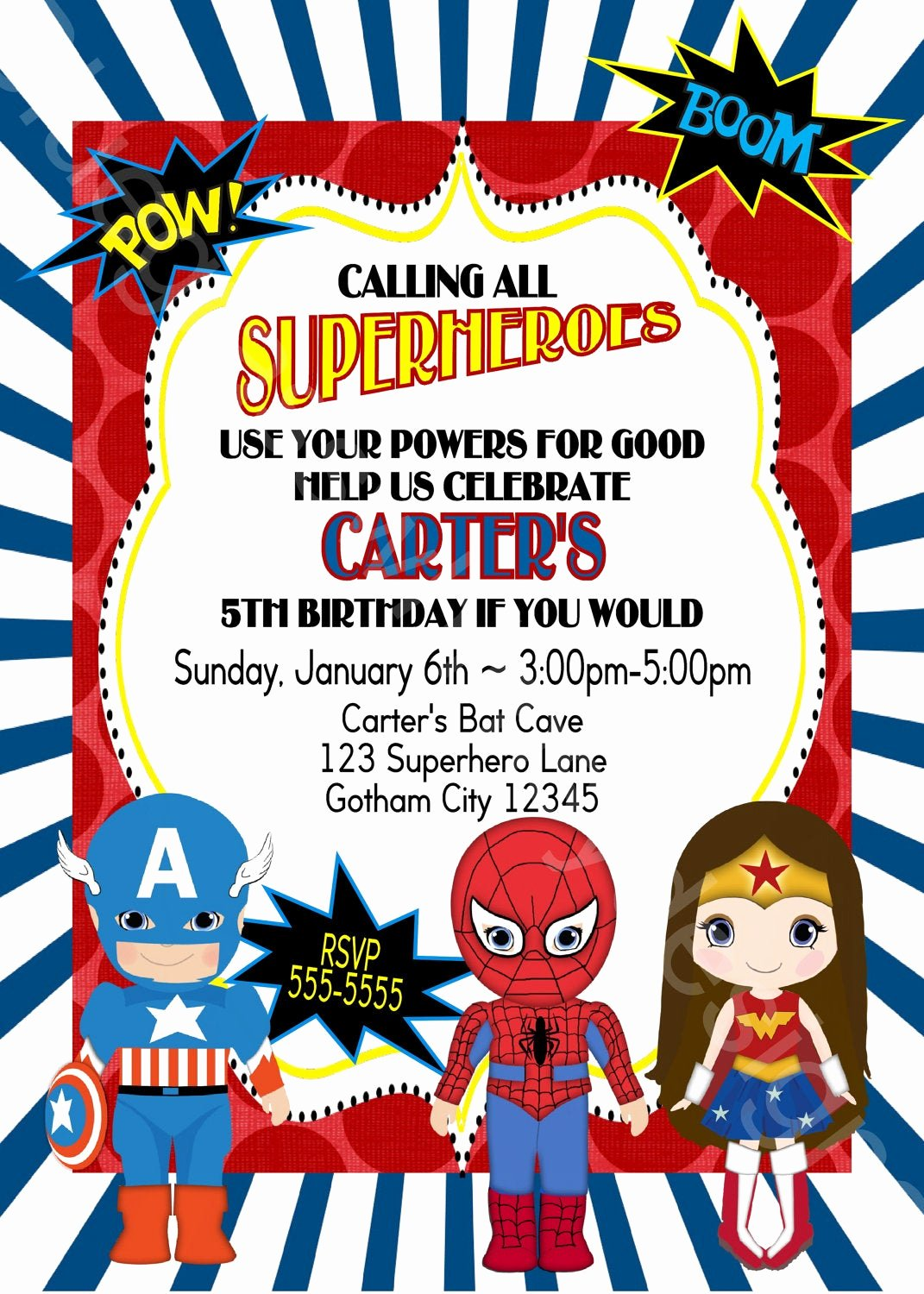 Calling All Superheroes Invitation Beautiful Calling All Superheroes Birthday Party Invitation Boy or