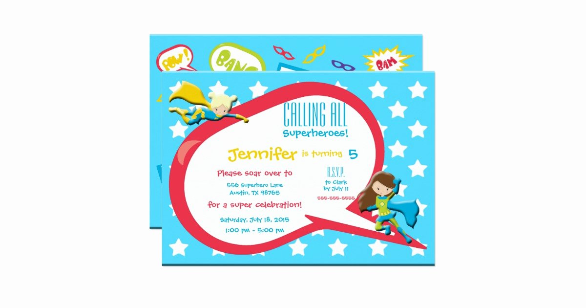 Calling All Superheroes Invitation Fresh Calling All Superheroes Birthday Party Invitation