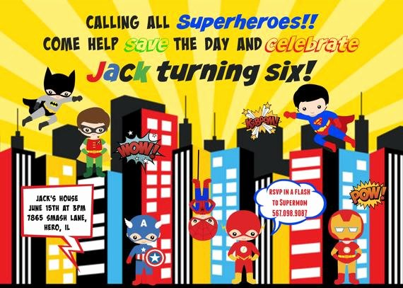 Calling All Superheroes Invitation Fresh Items Similar to Calling All Superheroes Superhero