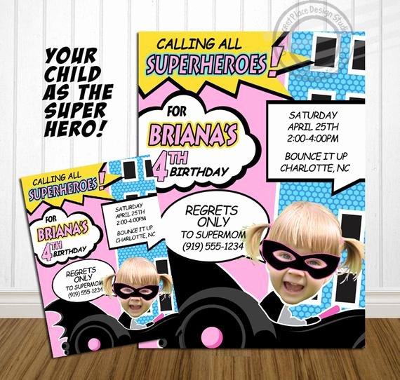 Calling All Superheroes Invitation Fresh Printable Calling All Superheroes Girl Superhero by