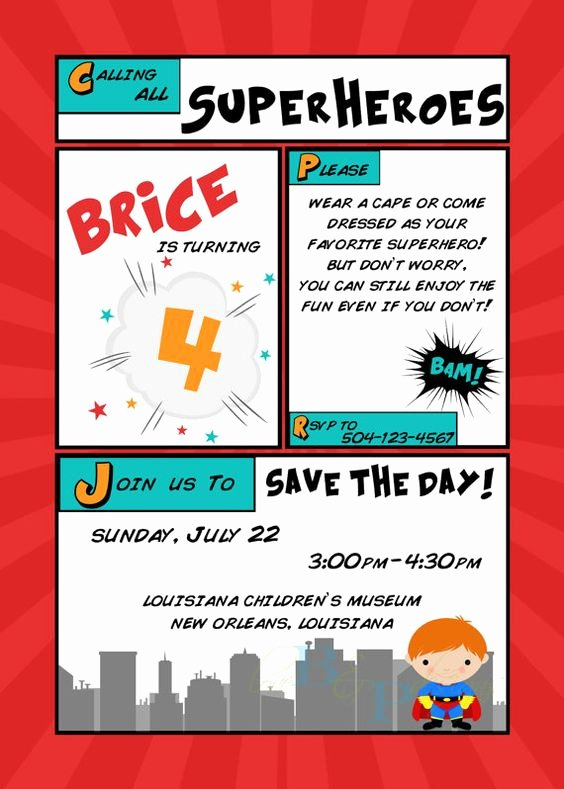 Calling All Superheroes Invitation Lovely Calling All Superheroes Birthday Invitation by