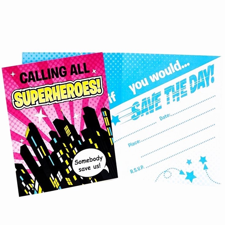 Calling All Superheroes Invitation Luxury 17 Best Images About Superhero Girl Party Ideas On
