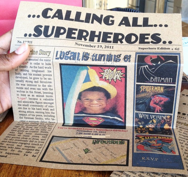 Calling All Superheroes Invitation New Calling All Superheroes Newspaper Invitation
