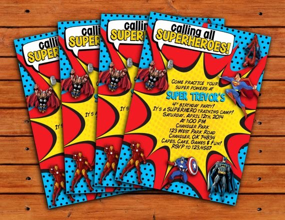 Calling All Superheroes Invitation New Calling All Superheroes themed Invitation 5x7 by