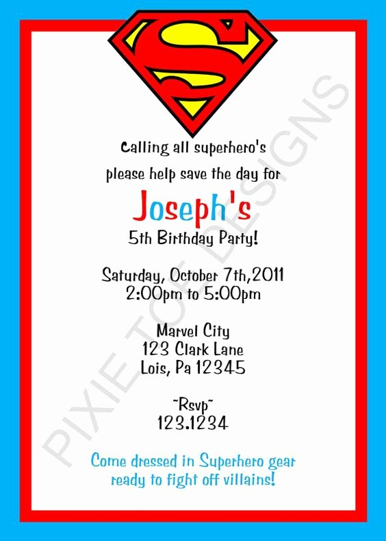 "Calling All Superheroes Invitation New ""calling All Superheroes Help Save the Day Be Celebrating"