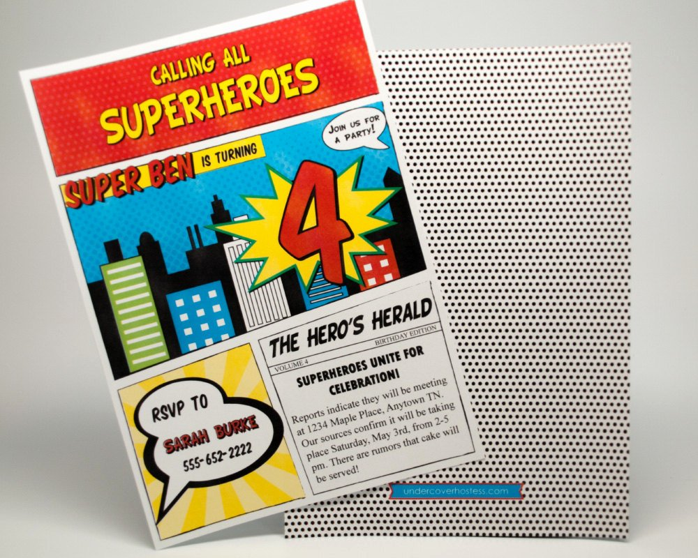 Calling All Superheroes Invitation Unique Superhero Invitation Superhero Party by Undercvrhostess On
