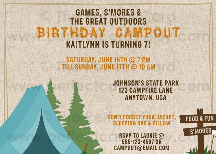 Camping Invitations Templates Free Awesome 66 Best Camping theme Wedding Shower Images On Pinterest