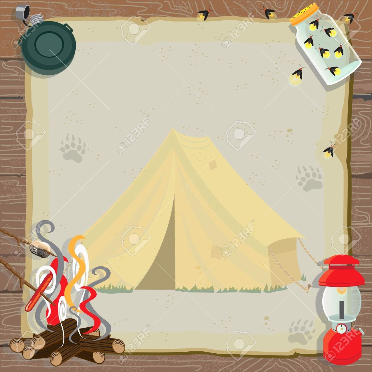 Camping Invitations Templates Free Best Of Camping Background Clipart – 101 Clip Art