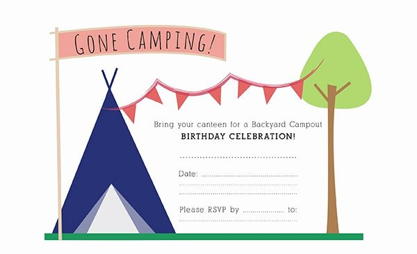Camping Invitations Templates Free Best Of Camping Birthday Party Invitation
