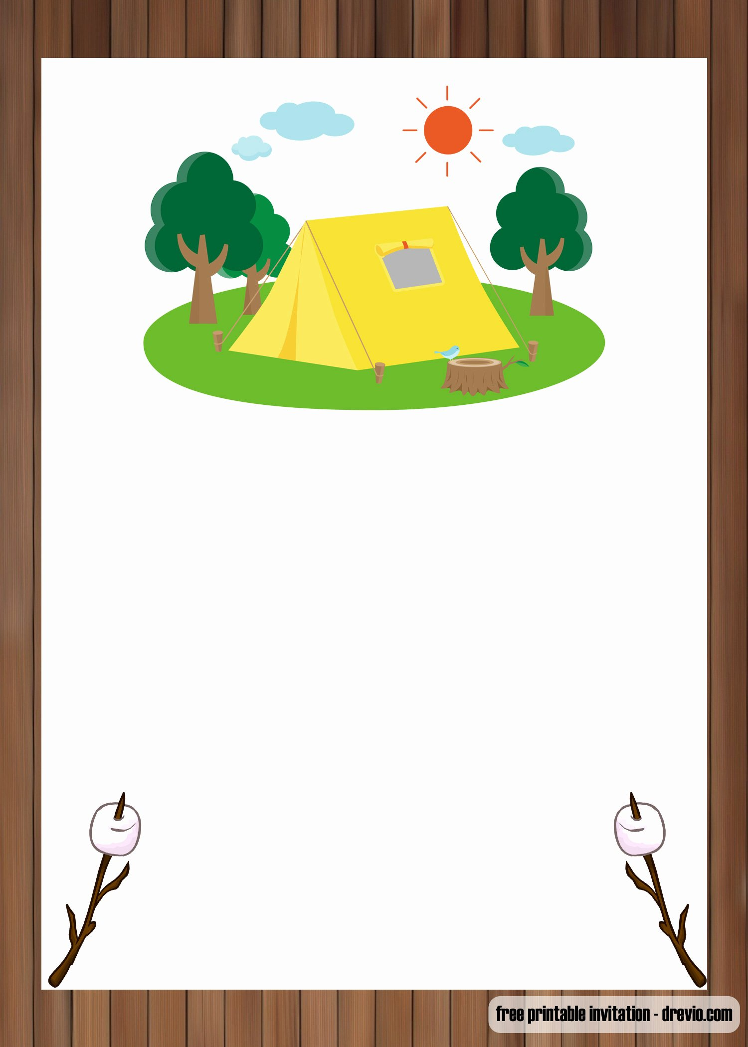 Camping Invitations Templates Free Elegant Free Printable Outdoor Camping Birthday Invitation Templates