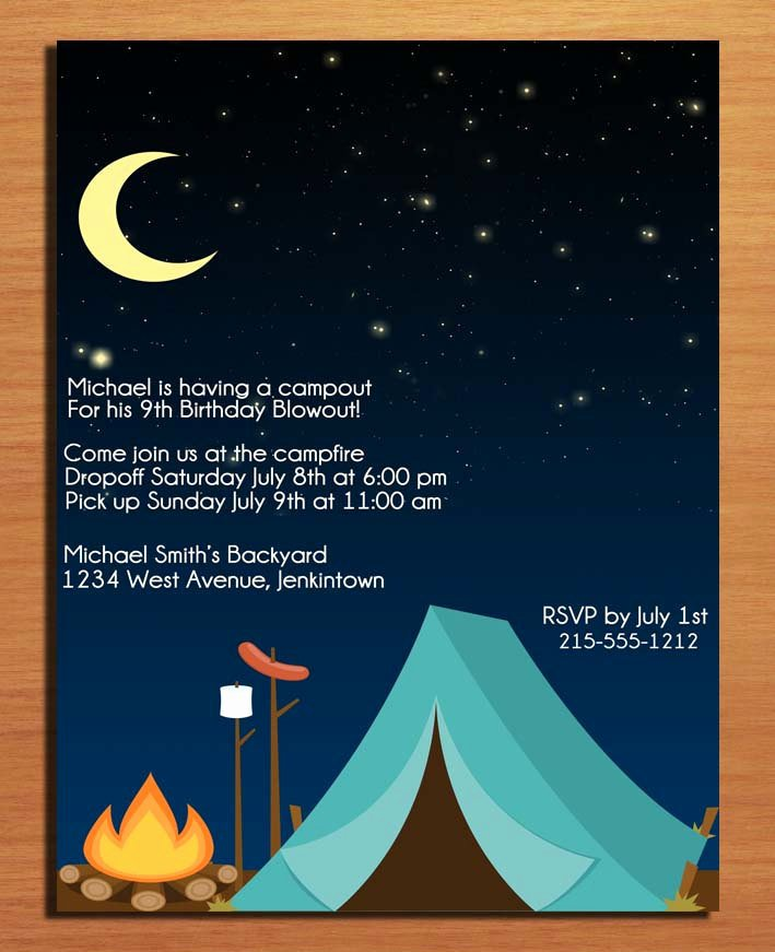 Camping Invitations Templates Free Fresh 40th Birthday Ideas Free Birthday Invitation Templates Camping