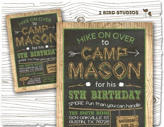 Camping Invitations Templates Free Fresh Camping Invitation Camping Party Invitation Camping Birthday