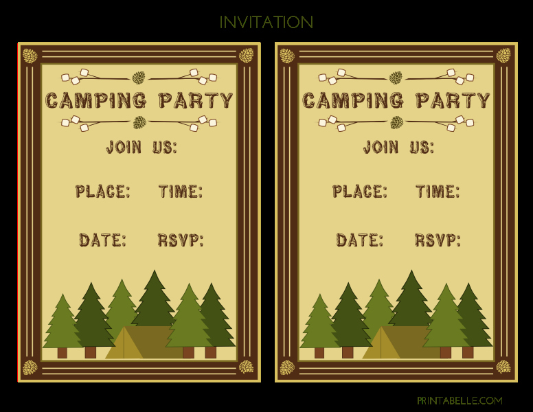 Camping Invitations Templates Free New Free Camping Party Printables From Printabelle