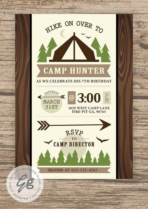 Camping Invitations Templates Free Unique Camping Birthday Party Camping Party Camping Birthday Camping Invitation Camping Invite