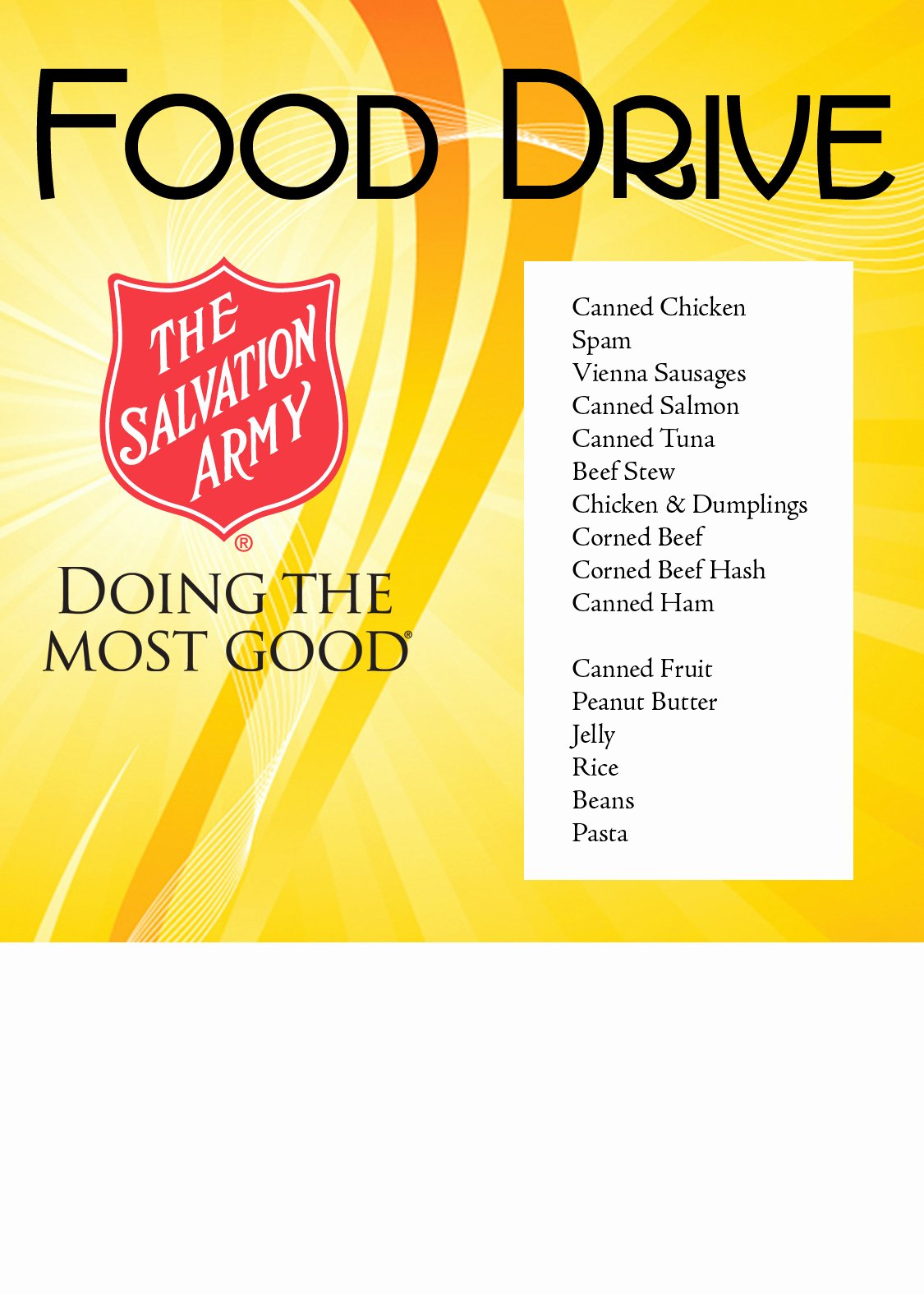 Can Food Drive Flyer Best Of the Salvation Army – Naples Immokalee and Naples Food Pantry Information