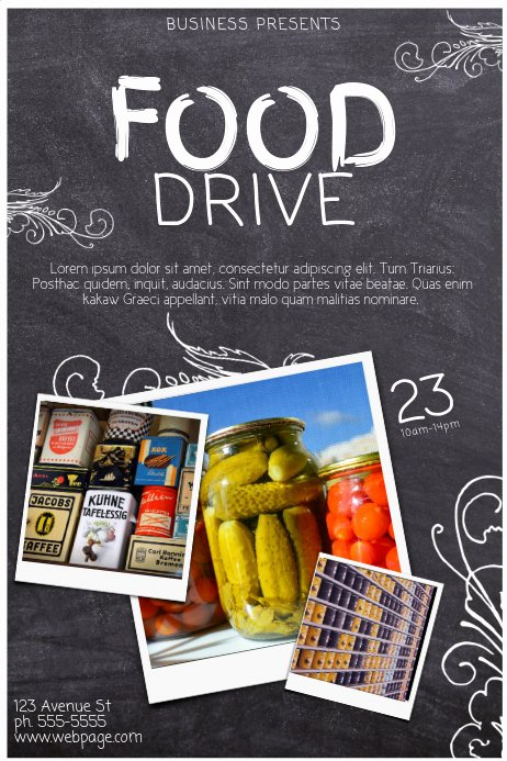 Can Food Drive Flyer Elegant Copy Of Food Drive Template