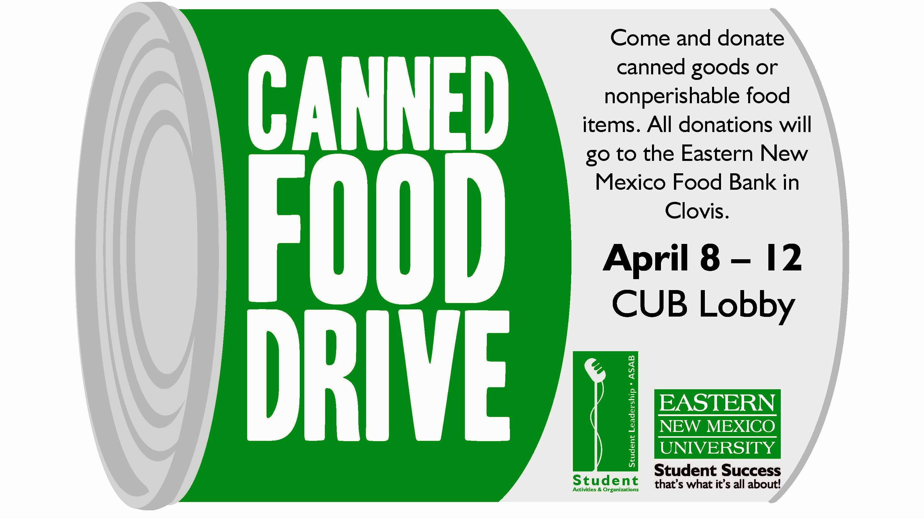 Can Food Drive Flyer Elegant Enmu's Canned Food Drive – Food Bank Of Eastern New Mexico