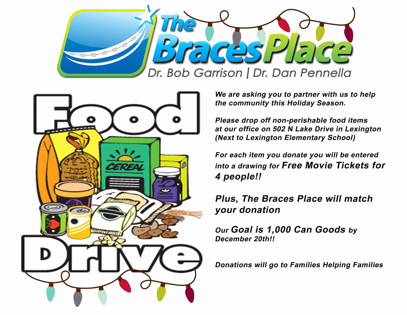 Can Food Drive Flyer Elegant the Braces Place