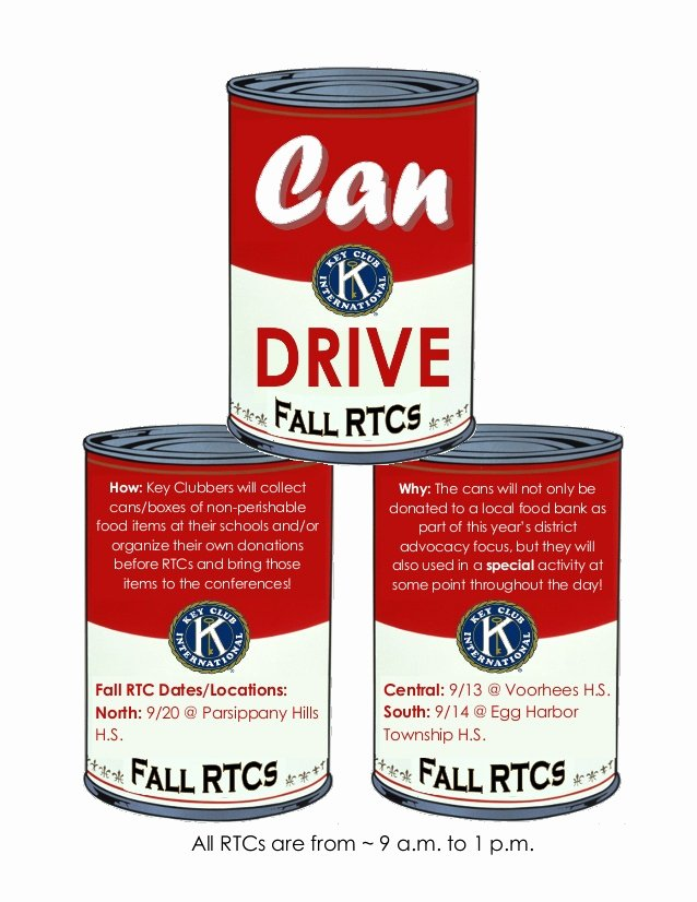Can Food Drive Flyer Luxury 4 2014 Fall Rtcs Can Drive Flyer