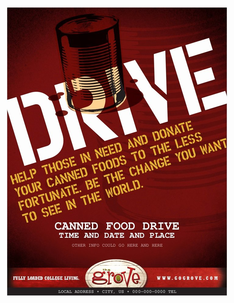 Can Food Drive Flyer Luxury Tg Canned Food Drive Flyer