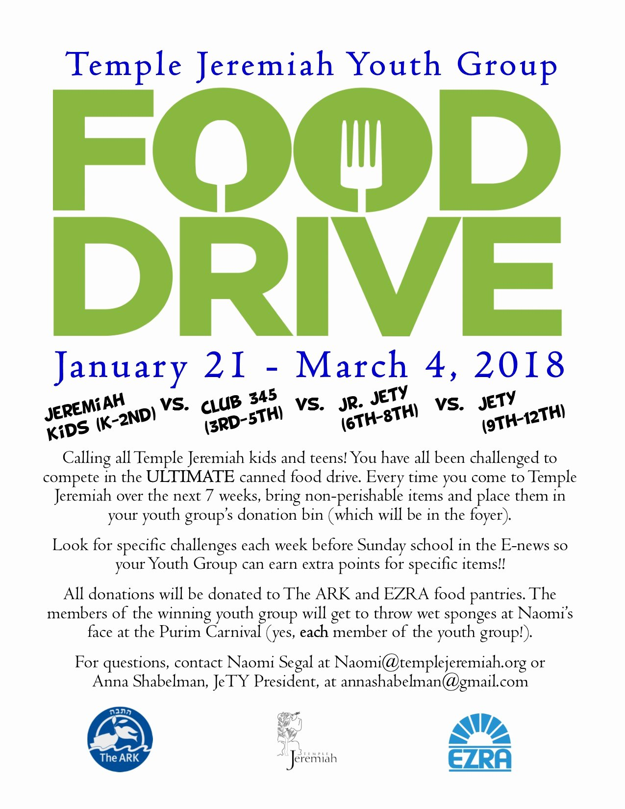 Can Food Drive Flyer Luxury Up Ing events Temple Jeremiah