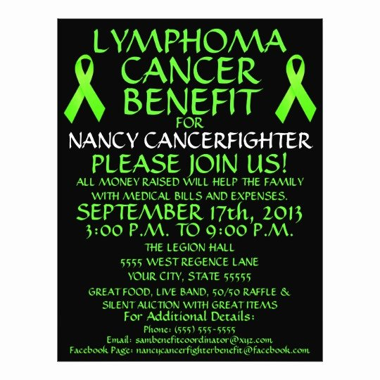 Cancer Benefit Flyer Ideas Awesome Custom Lymphoma Cancer Benefit Flyer