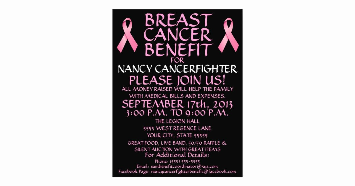 Cancer Benefit Flyer Ideas Beautiful Custom Breast Cancer Benefit Flyer