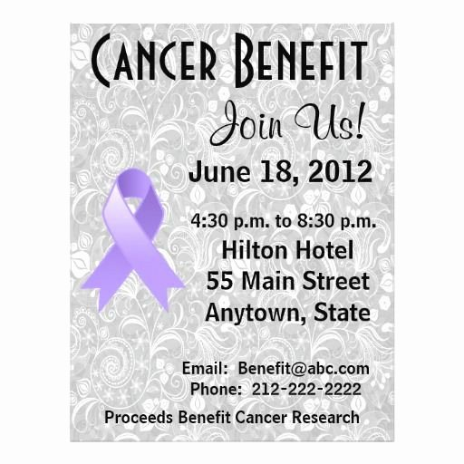 Cancer Benefit Flyer Ideas Best Of 15 Best Fundraiser Benefit Flyers for Cancer and Health Awareness Images On Pinterest