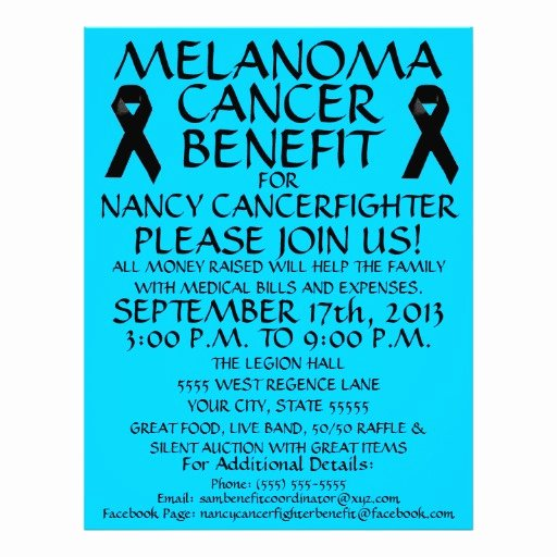 Cancer Benefit Flyer Ideas Elegant Melanoma Cancer Benefit Flyer