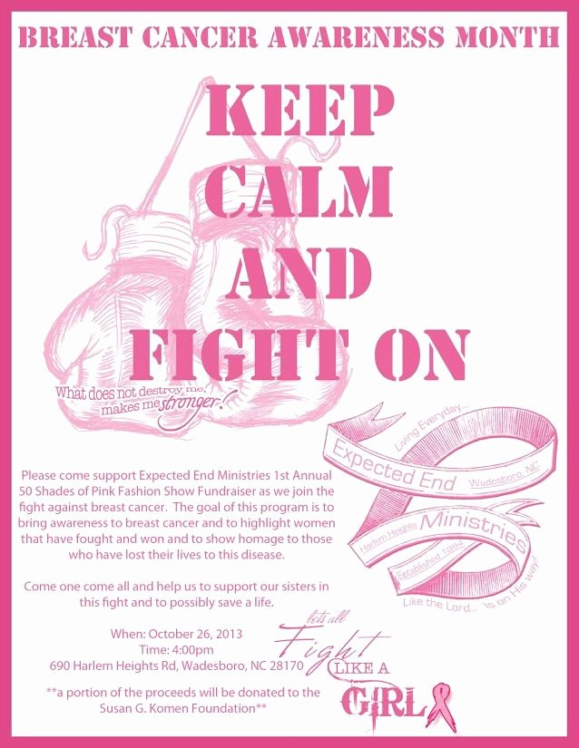 Cancer Benefit Flyer Ideas Inspirational Fundraiser Flyer Pink Power East Cancer Month Pinterest