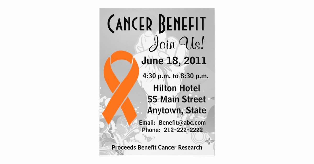 Cancer Benefit Flyer Ideas Inspirational Leukemia Cancer Personalized Benefit Flyer