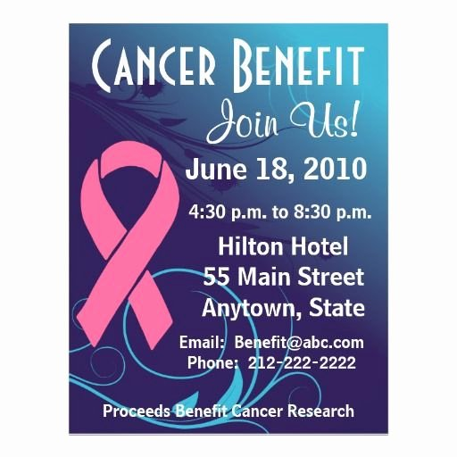 Cancer Benefit Flyer Ideas Inspirational Personalize Cancer Benefit Breast Cancer Awareness and Benefit Flyer by Cancerapparel Ts
