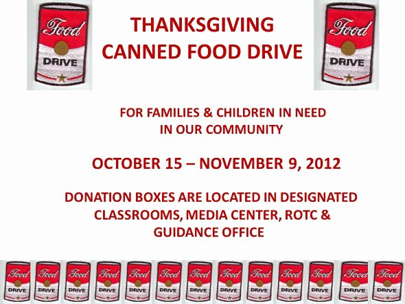 Canned Food Drive Flyer Awesome Hca Canned Food Drive