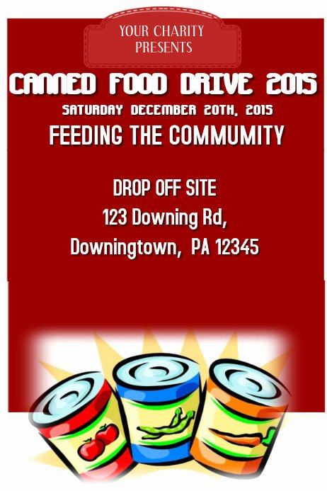 Canned Food Drive Flyer Best Of Canned Food Drive Template